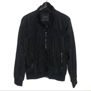 ZARA Man Black Zip Up Waterproof Jacket